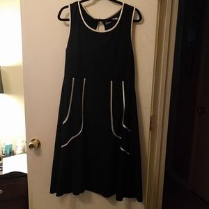 Modcloth black midi dress